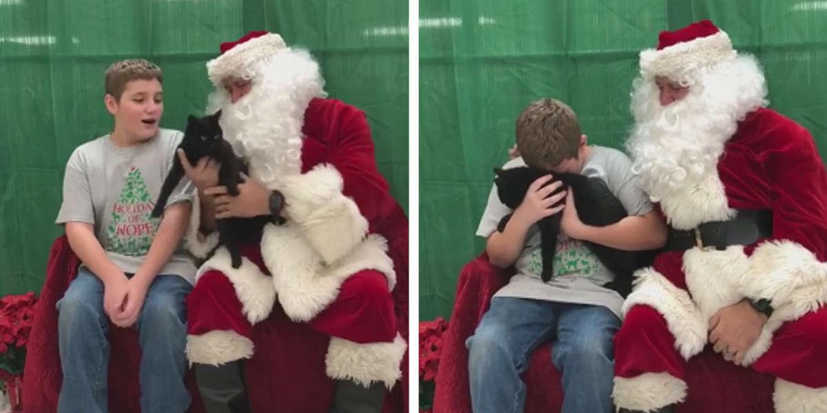 Menino se emociona ao receber presente de natal: seu novo melhor amigo